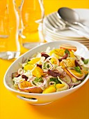 Spicy orange salad with onions and olives