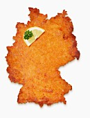 A Germany-shaped escalope