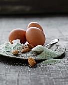 Eggs, flour, sugar and almonds