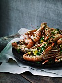 Langoustines with garlic, parsley and lemon