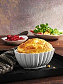 Gouda souffle with redcurrants