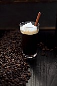 Irish coffee and coffee beans