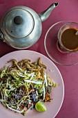 Khao yam (rice salad, Southern Thailand)
