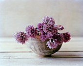 Blossoming Chives in a Vase