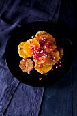 Orange salad with pomegranate seeds
