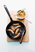 Frankish sausage with caramelised sauerkraut