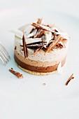 Individual chocolate cakes