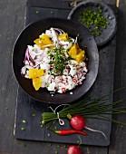 Dorsch-Ceviche mit Radieschen