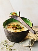 Sauerkraut soup with croutons