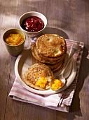 Bourrioles (pancakes made from wheat flour and buckwheat flour, France)