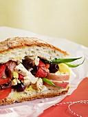 Salad nicoise sandwich