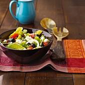 Farmer's salad with feta cheese