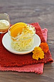Fruity Chinese cabbage salad with peaches