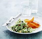 Weisskohlsalat mit Räucherlachs