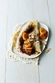 Almond crepe with bananas