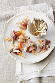 Soused herring skewers with white port wine