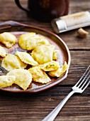 Carinthian ravioli filled with turnips