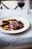 Saddle of venison with carrots