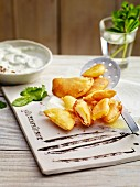 Parsnips and yellow beets in chickpea batter