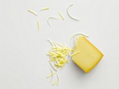 Mountain cheese, grated and a slice
