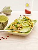 Mangold and wild garlic pasta