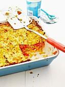 Pasta and lentil bake