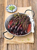 Baked beetroot glazed with honey and balsamic vinegar