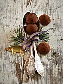 Weihnachtliche Schokoladentrüffel
