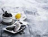 Mackerel, mussels and lemons