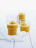 Carrot and orange smoothies
