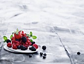 Various berries on a plate