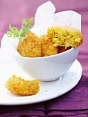 Saffron rice cakes