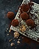 Dark muesli truffles