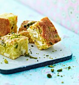Pistachio cake bites
