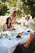 A Provençal meal in a garden