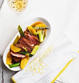 Fried duck breast in orange sauce (low carb)