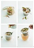 Brühe mit getrockneter asiatischer Würzmischung aromatisieren