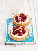 Cherry custard tartlets
