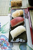 Different kind of Nigiri sushi