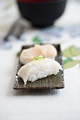 Nigiri sushi with squid