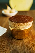 Chocolate and pear souffle