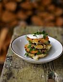 Autumnal mushroom cakes