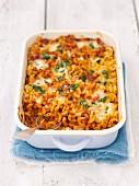 Tomato and mozzarella pasta bake