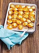 Gebackene Aprikosen mit Mascarpone und Honig