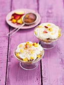 Tiramisu with nectarines