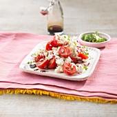Watercress, tomato and buffalo mozzarella salad