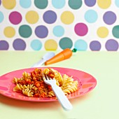 Wholemeal pasta with carrot bolognese