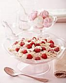 Raspberry cream with meringue