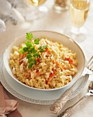 Crab and champagne risotto