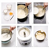 Vanilla ice cream being made